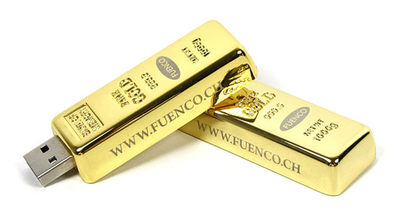 Golden USB Flash Drives